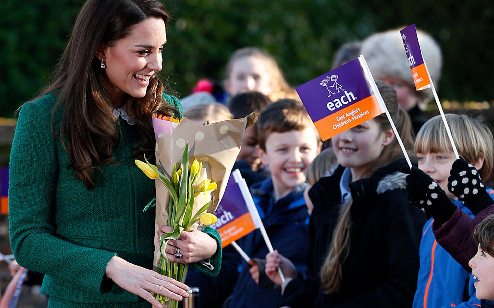 QUIDENHAM, NORFOLK - JANUARY 24:  Catherine, Duchess of Cambridge visits the East Anglia's Children's Hospices (EACH) on January 24, 2017 in Quidenham, Norfolk. HRH is Royal Patron of EACH and launched The Nook Appeal in 2014. (Photo by Adrian Dennis - WP