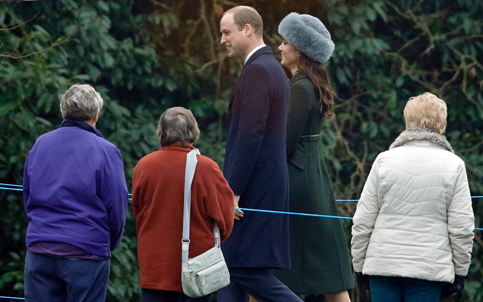 KING'S LYNN, UNITED KINGDOM - JANUARY 08: (EMBARGOED FOR PUBLICATION IN UK NEWSPAPERS UNTIL 48 HOURS AFTER CREATE DATE AND TIME) Prince William, Duke of Cambridge and Catherine, Duchess of Cambridge attend the Sunday service at St Mary Magdalene Church, S