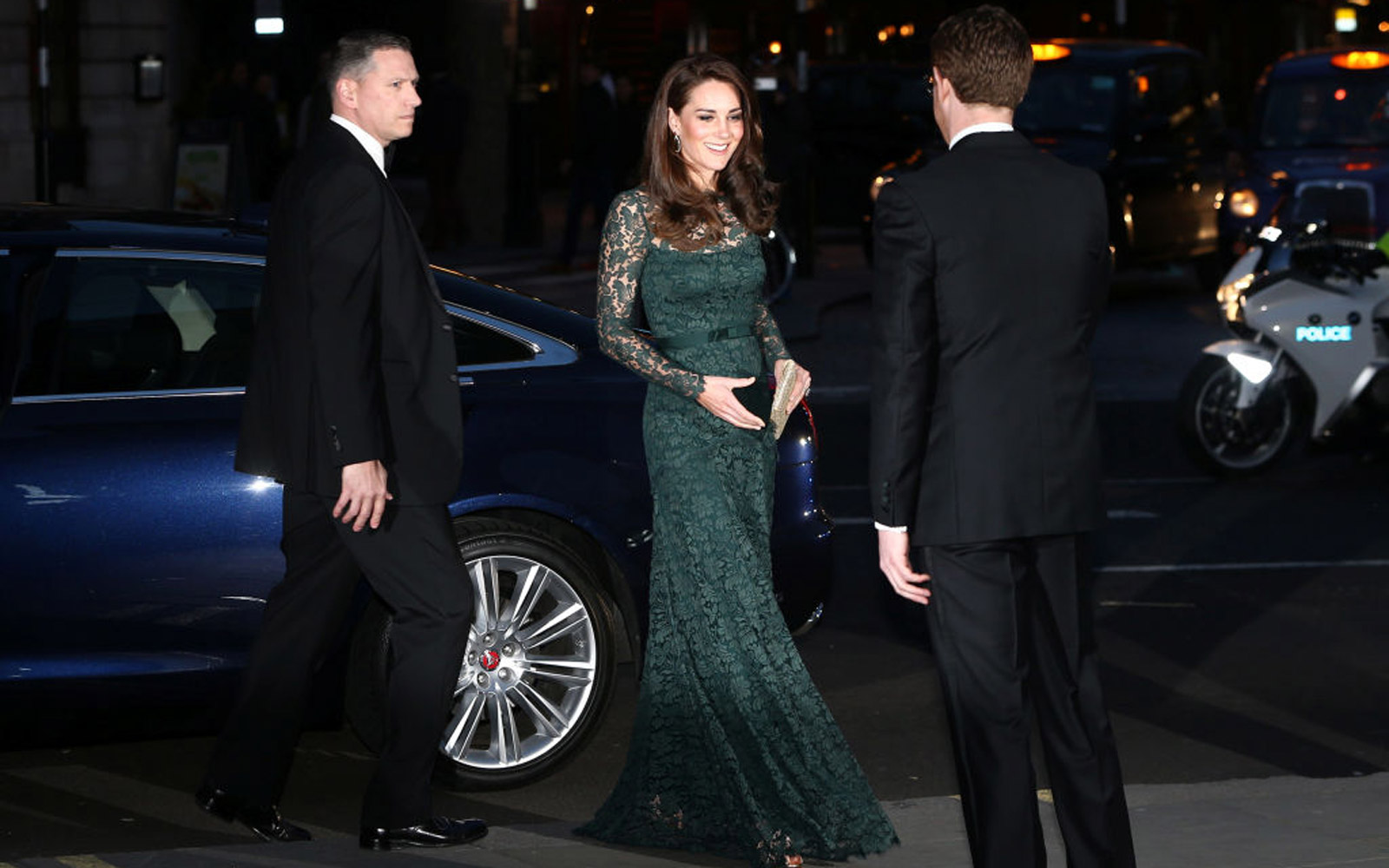Britain's Catherine, Duchess of Cambridge (C), is greeted by Nicholas Cullinan Director of the National Portrait Gallery, as she arrives to attend the 2017 Portrait Gala, at the National Portrait Gallery in London on March 28, 2017.The 2017 Gala is fundr
