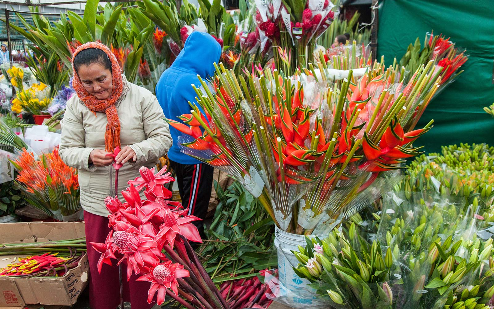 La Plaza de Paloquemao flowers market in Bogota Colombia Style Travel Fashion Guide