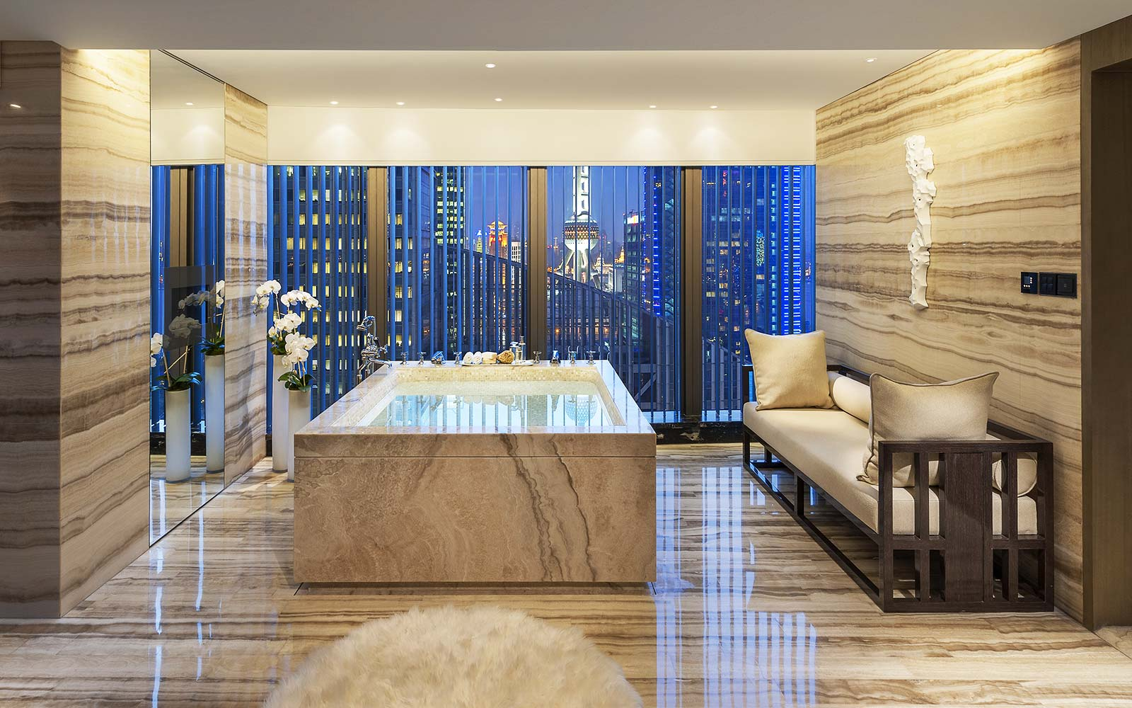 Presidential Suite at Mandarin Oriental Pudong, Shanghai, China