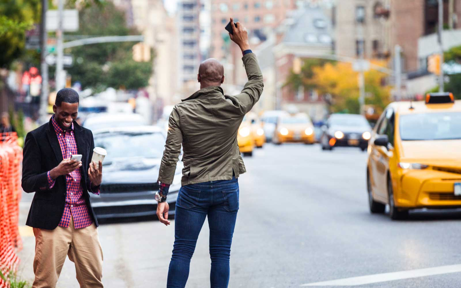 Hailing a Taxi in New York City
