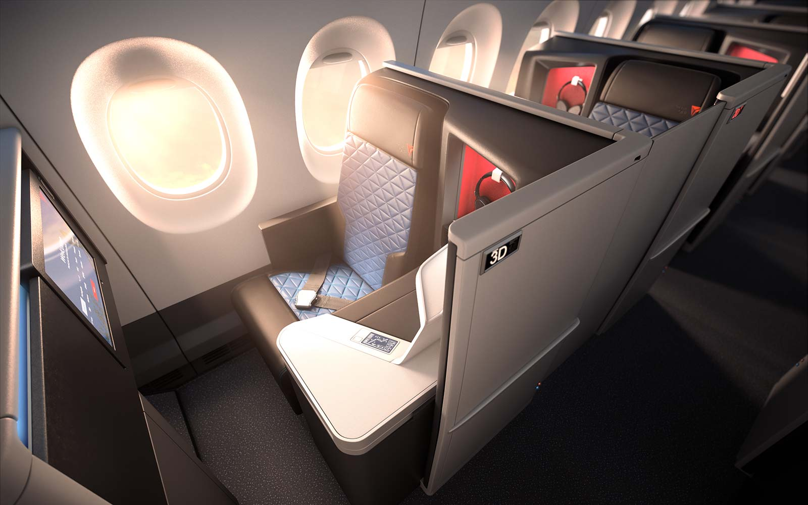 Delta Airlines Airbus A350 OneSuite cabin