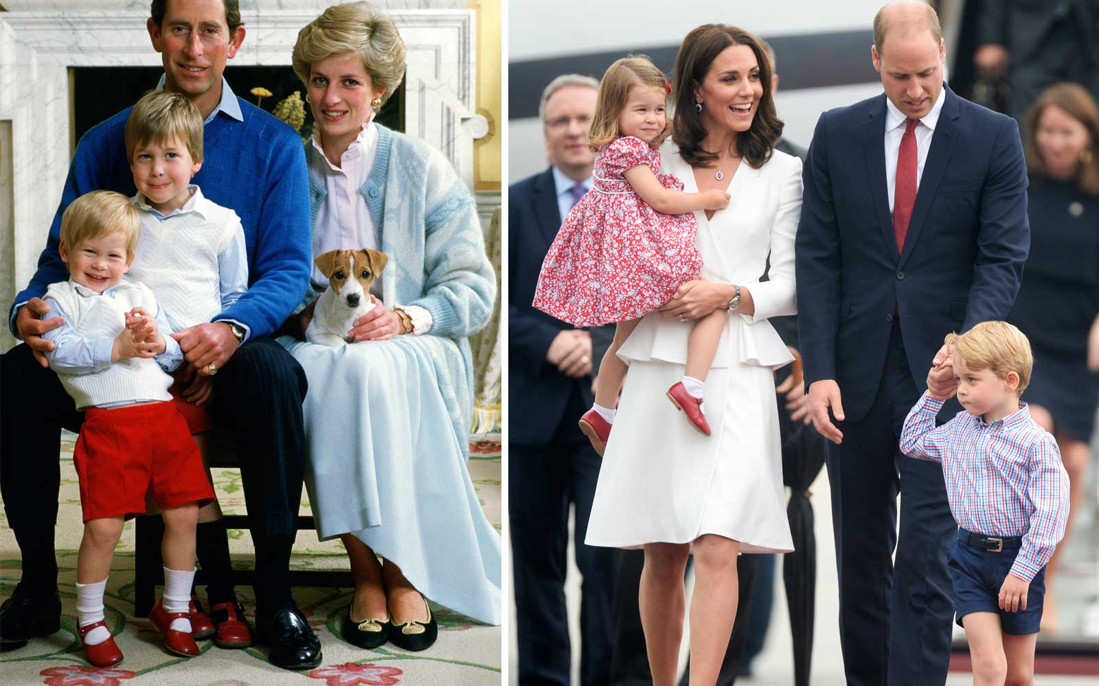 Prince Harry and Princess Charlotte Red Shoes