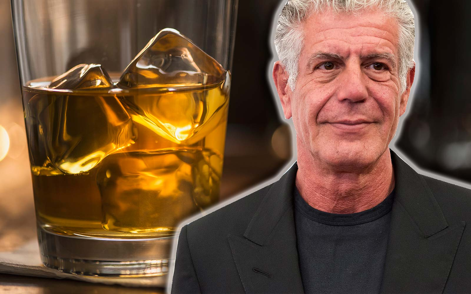 Anthony Bourdain Iced Whiskey Scotch Drink