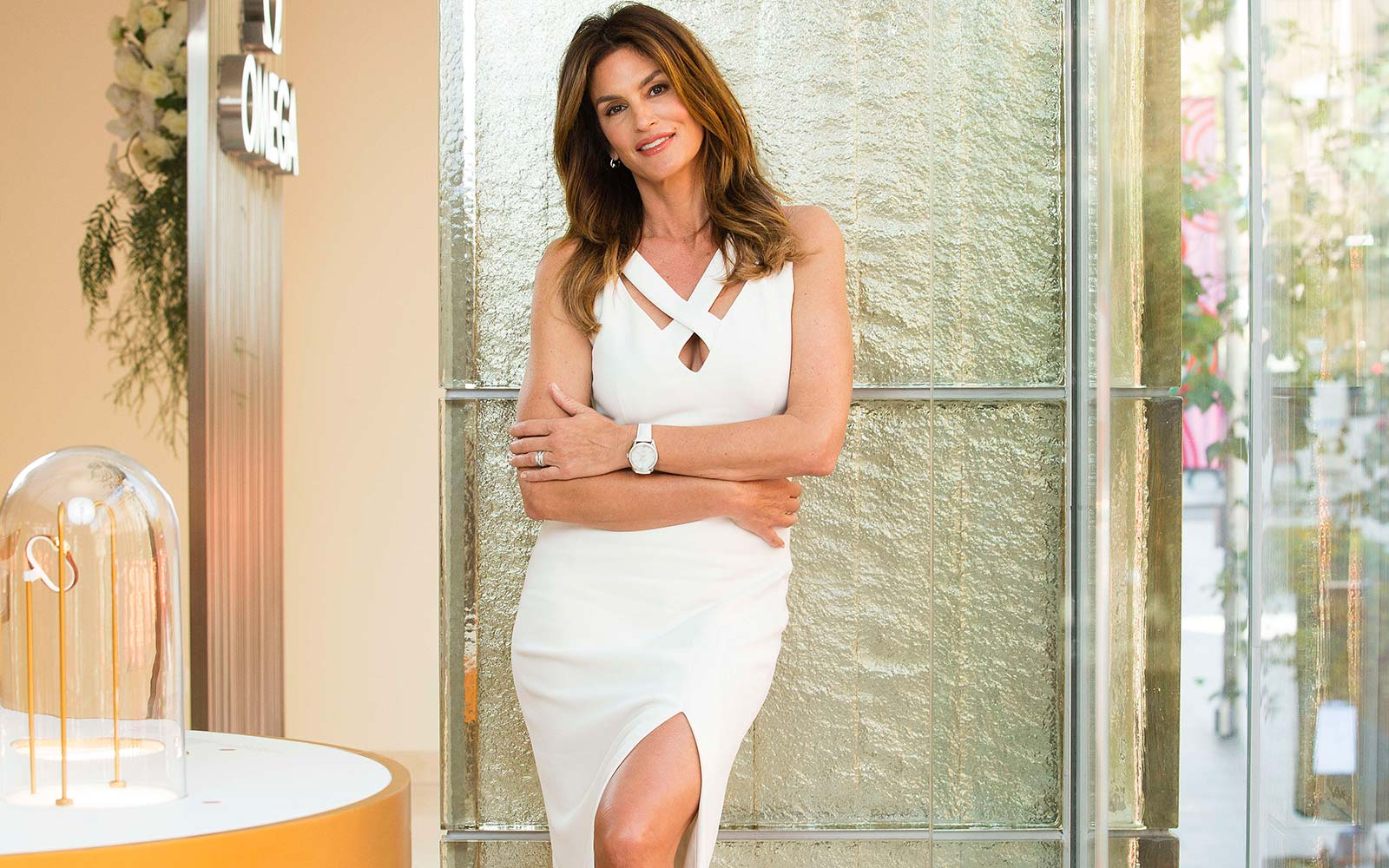 Model Cindy Crawford poses during an Omega Boutique media call in Sydney Australia