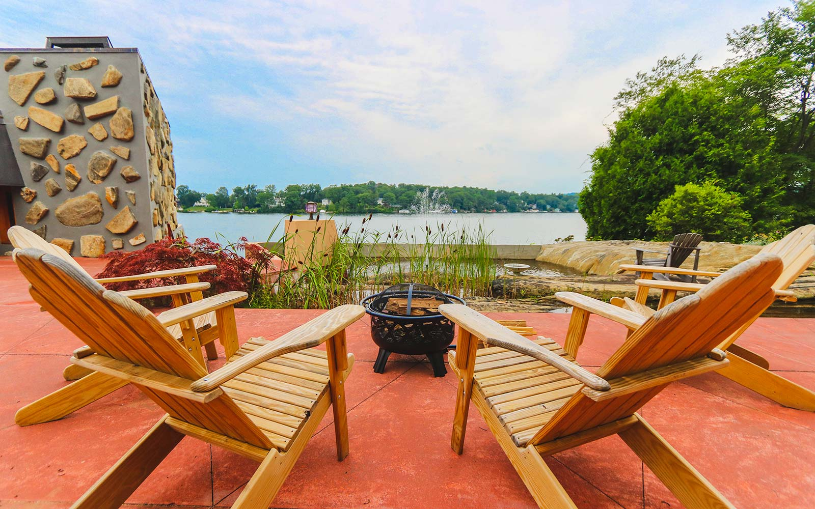 Frank Lloyd Wright Architecture Petra Island New York Massaro House Sale Main House Deck Chairs View