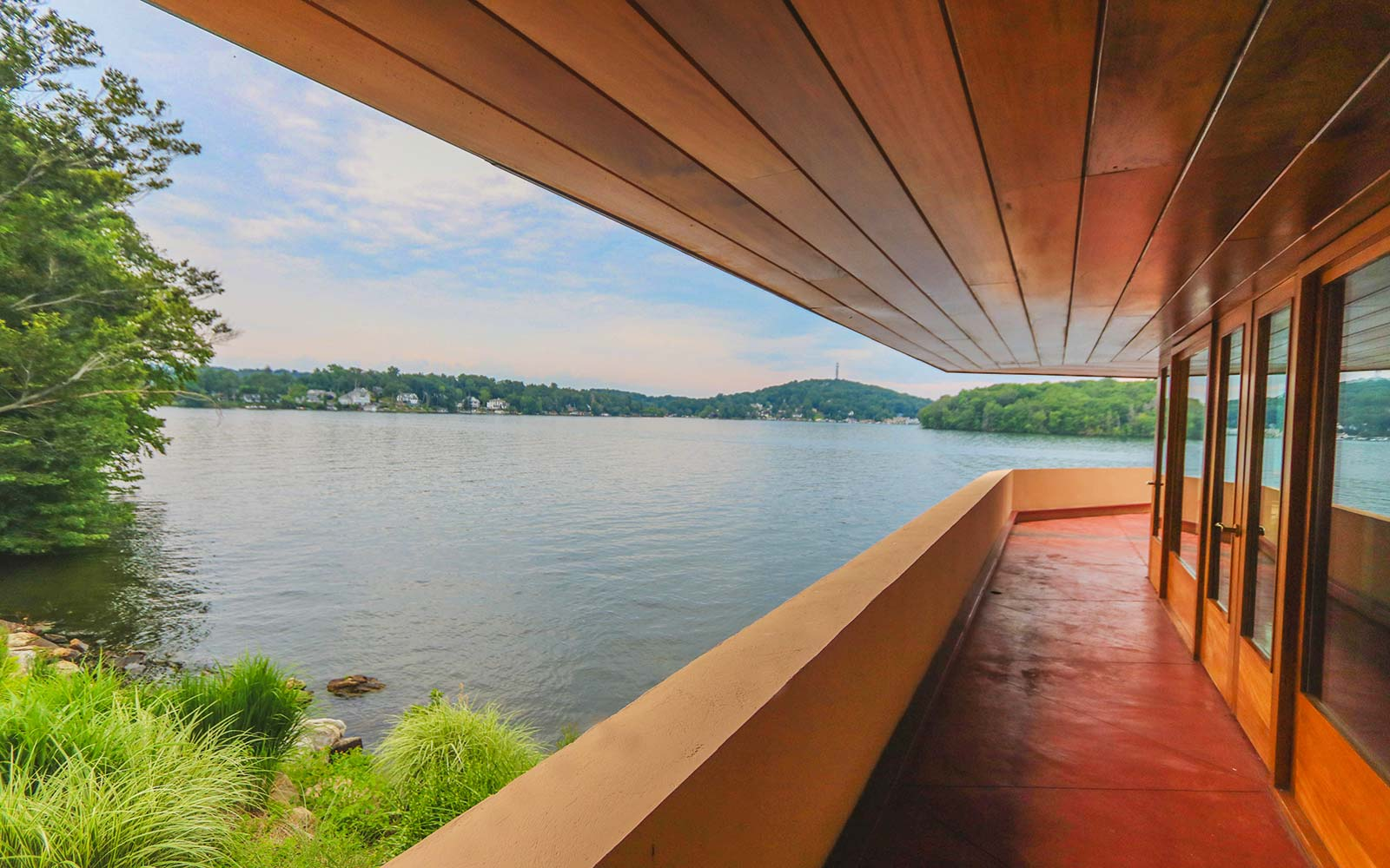 Frank Lloyd Wright Architecture Petra Island New York Massaro House Sale Main House Patio View