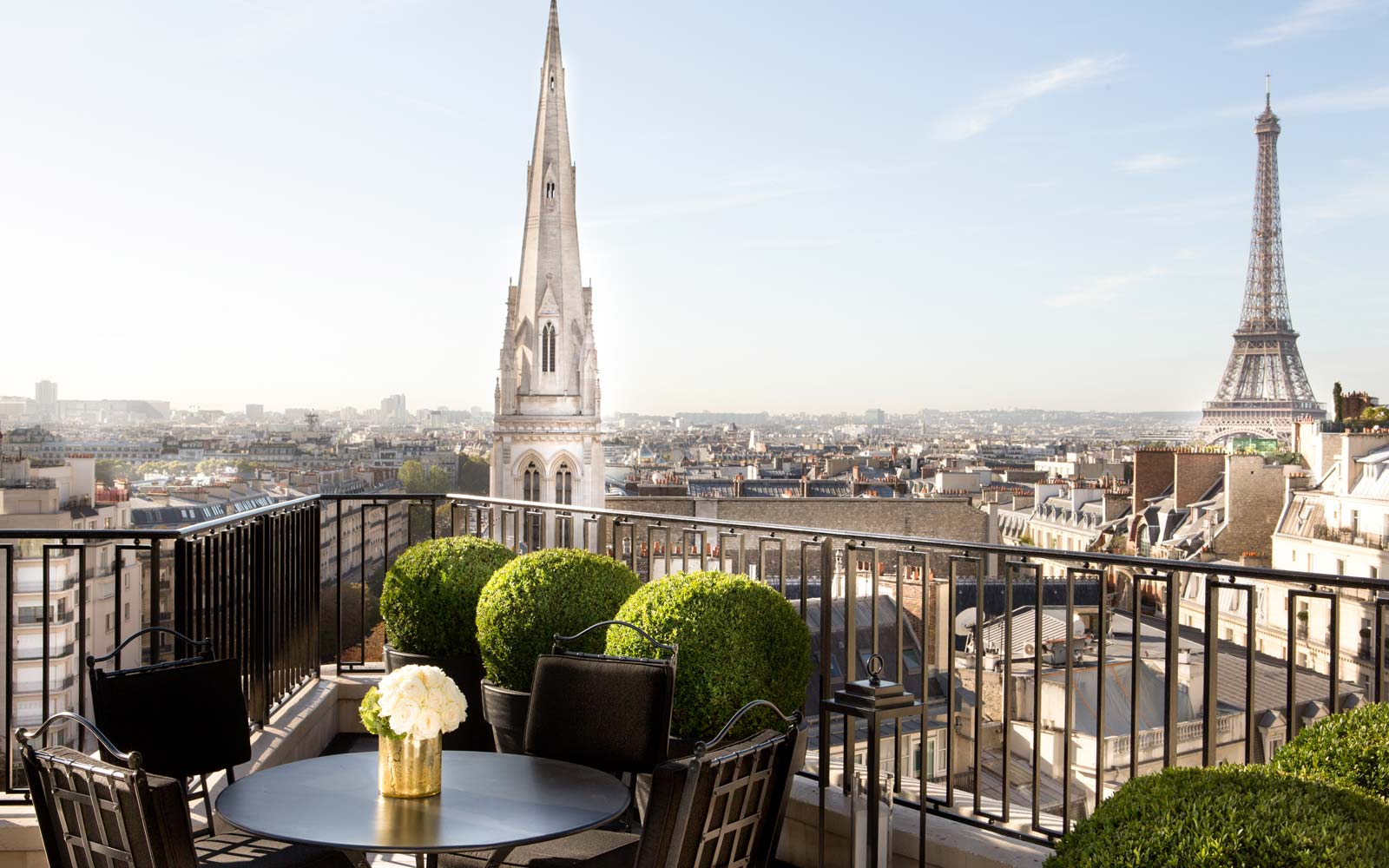 The Penthouse Apartment at the Hotel Georges V in Paris, France