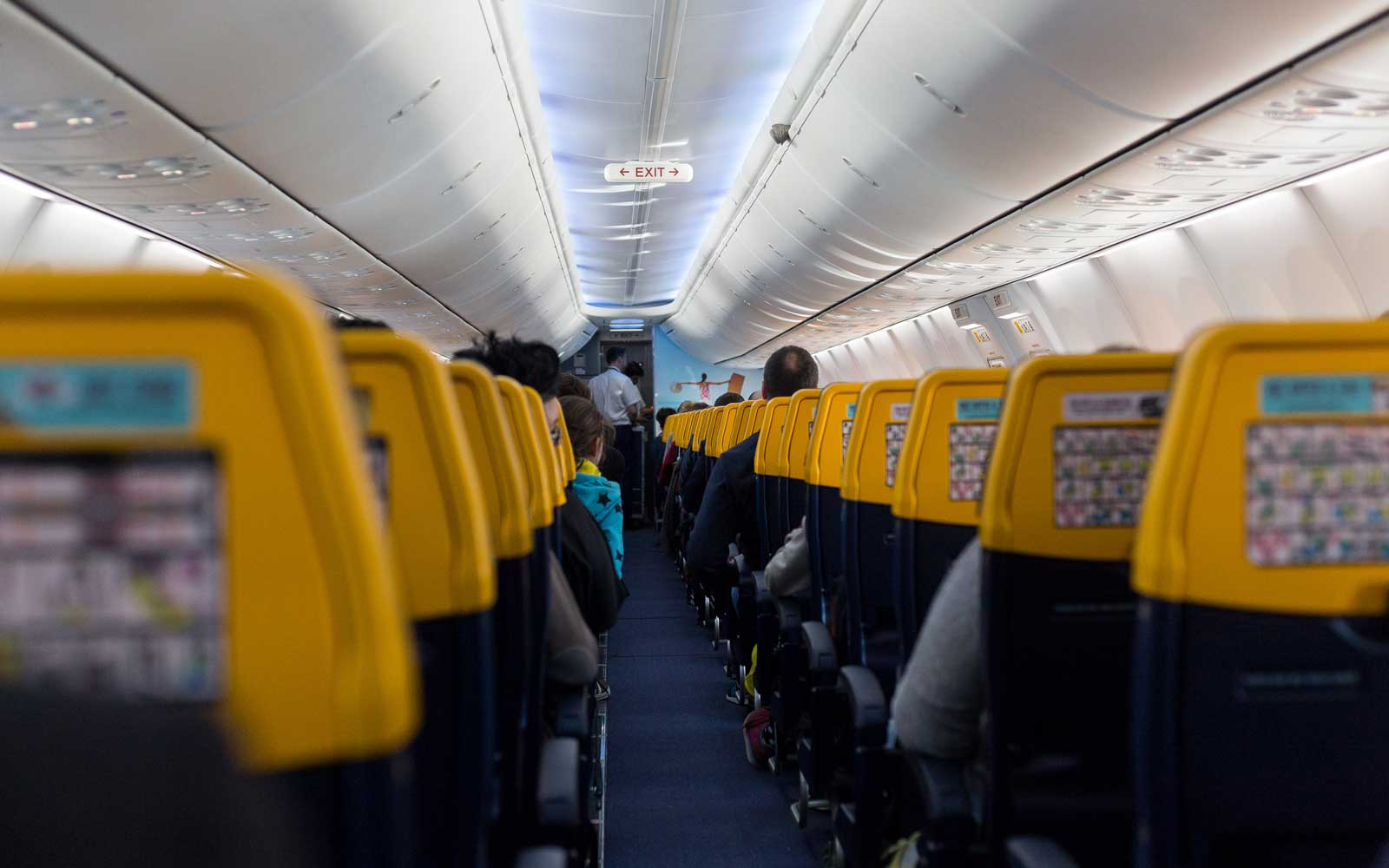 Ryanair Boeing 737-800 (Sky Interior) plane to Gdansk in Poland on 11 April 2017 (Photo by Mateusz Wlodarczyk/NurPhoto via Getty Images)