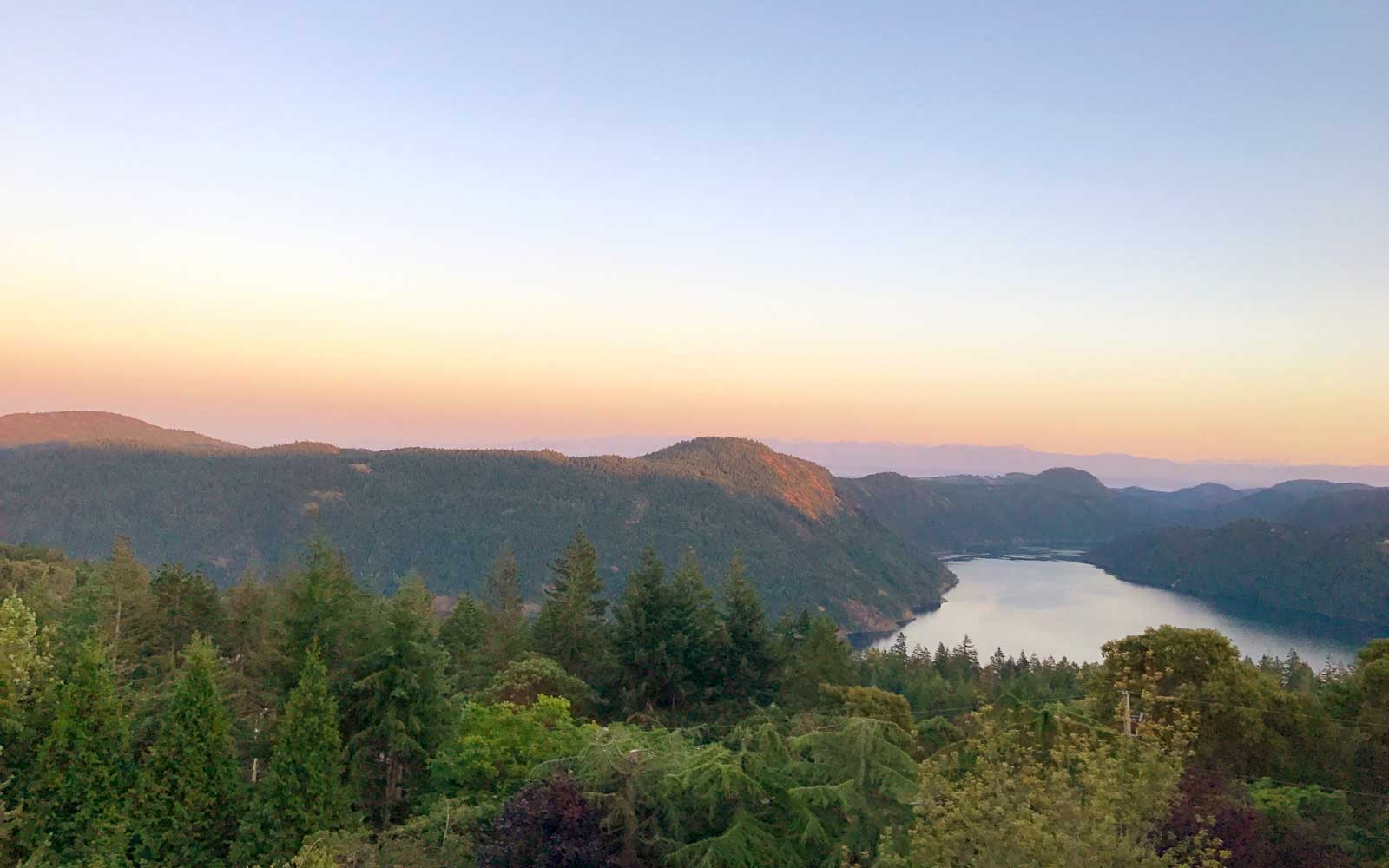 View from Villa Eyrie on Vancouver Island, Canada