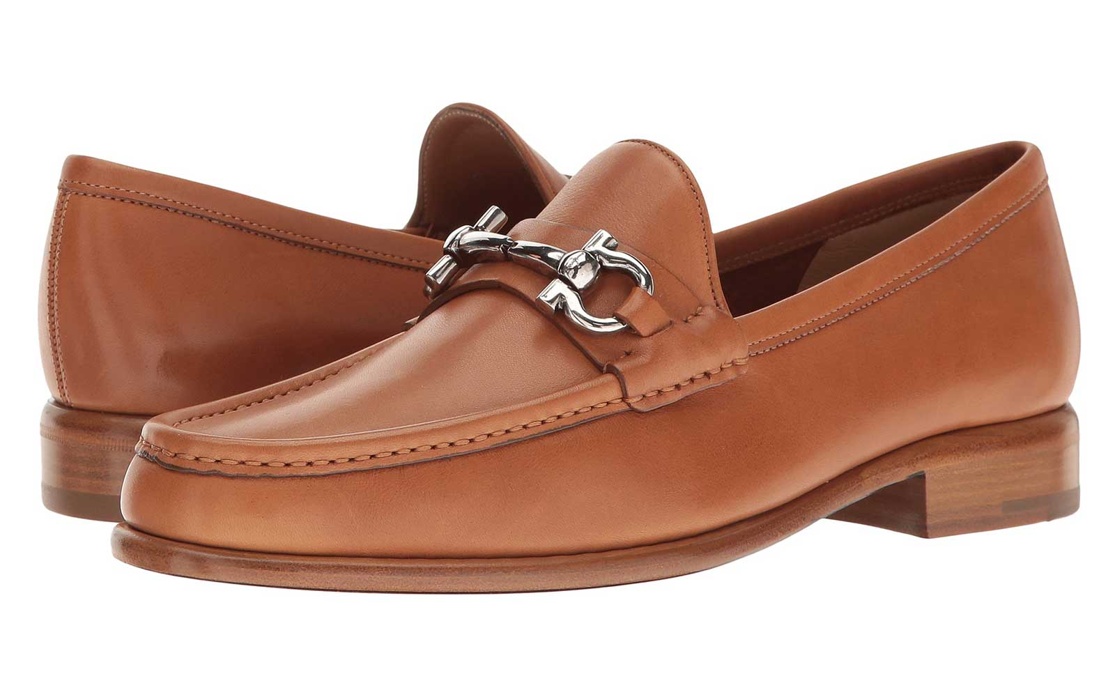 Brown Leather Buckle Loafers for Fall