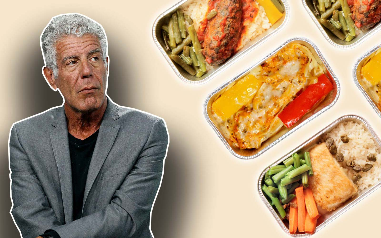 Anthony Bourdain Sleep Airplane Food Flight Meal Service Tip