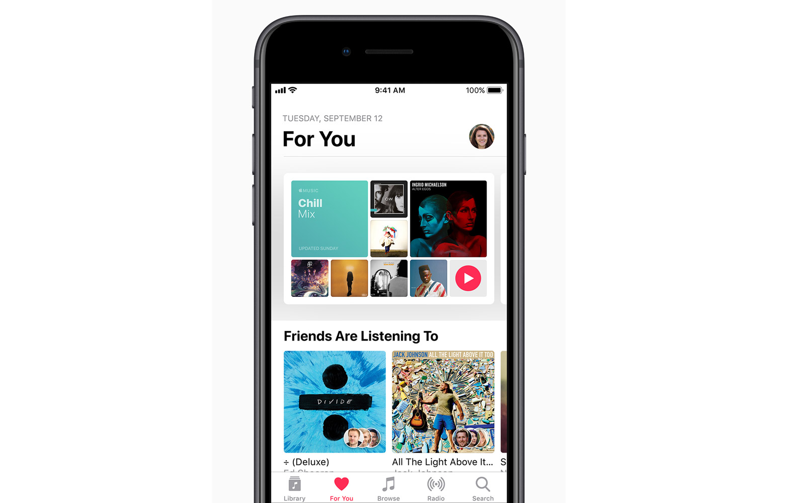 New music sharing feature on Apple's iOS 11