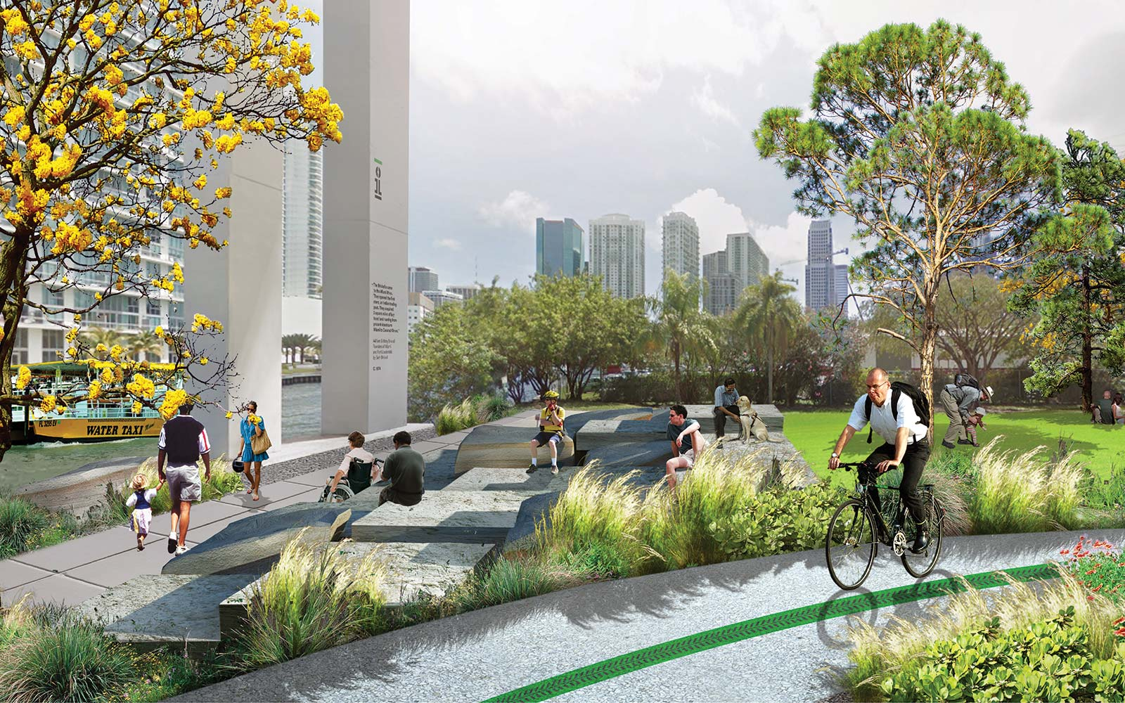 The Underline Urban Redevelopment Project James Corner Field Operations Brickell Park Miami Florida River Path