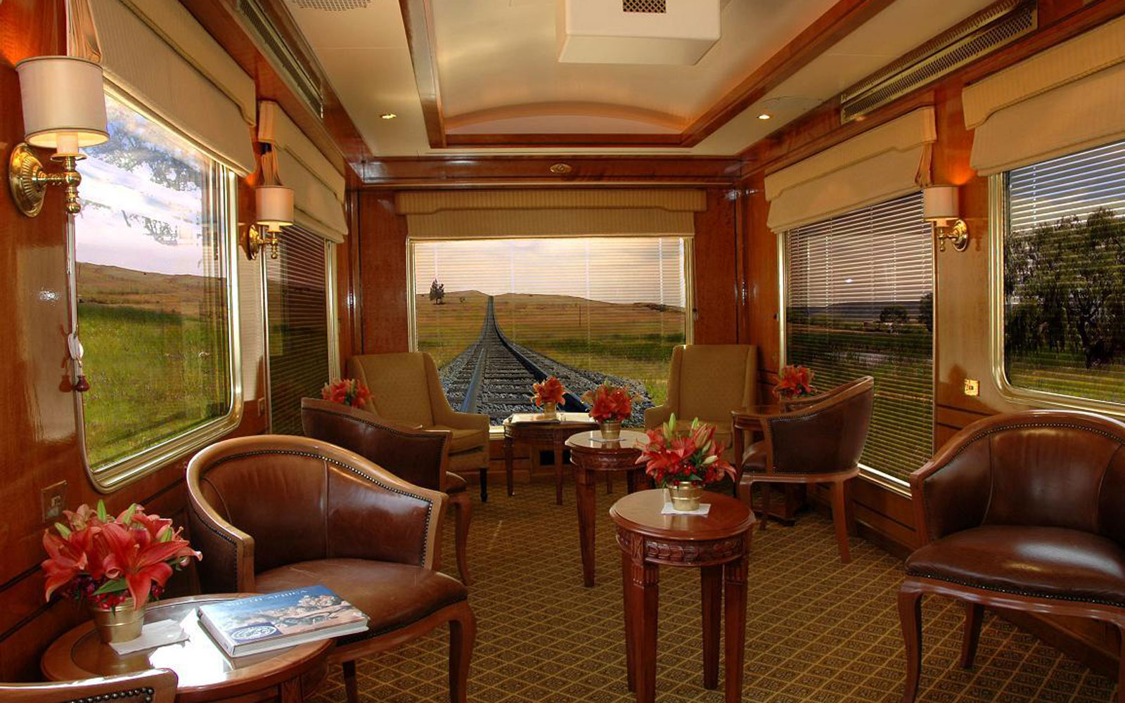 blue train observation car