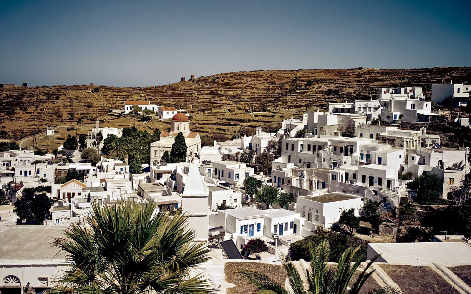 Pyrgos village, in Greece