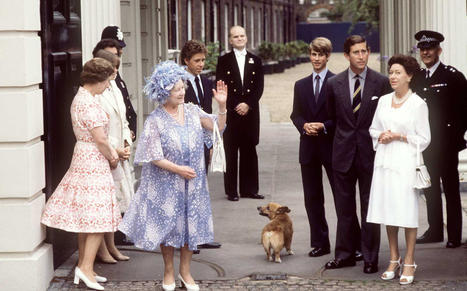 Queen Elizabeth II and her Corgis