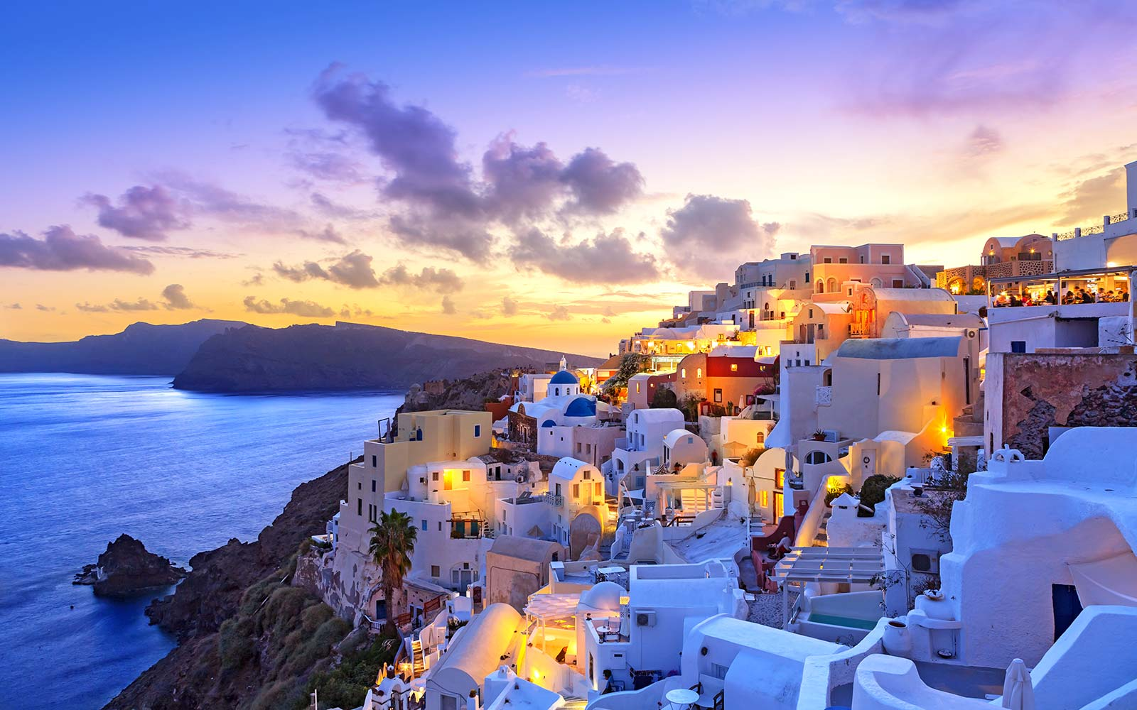 Santorini Island Greece Sunset cheap flight deal travel