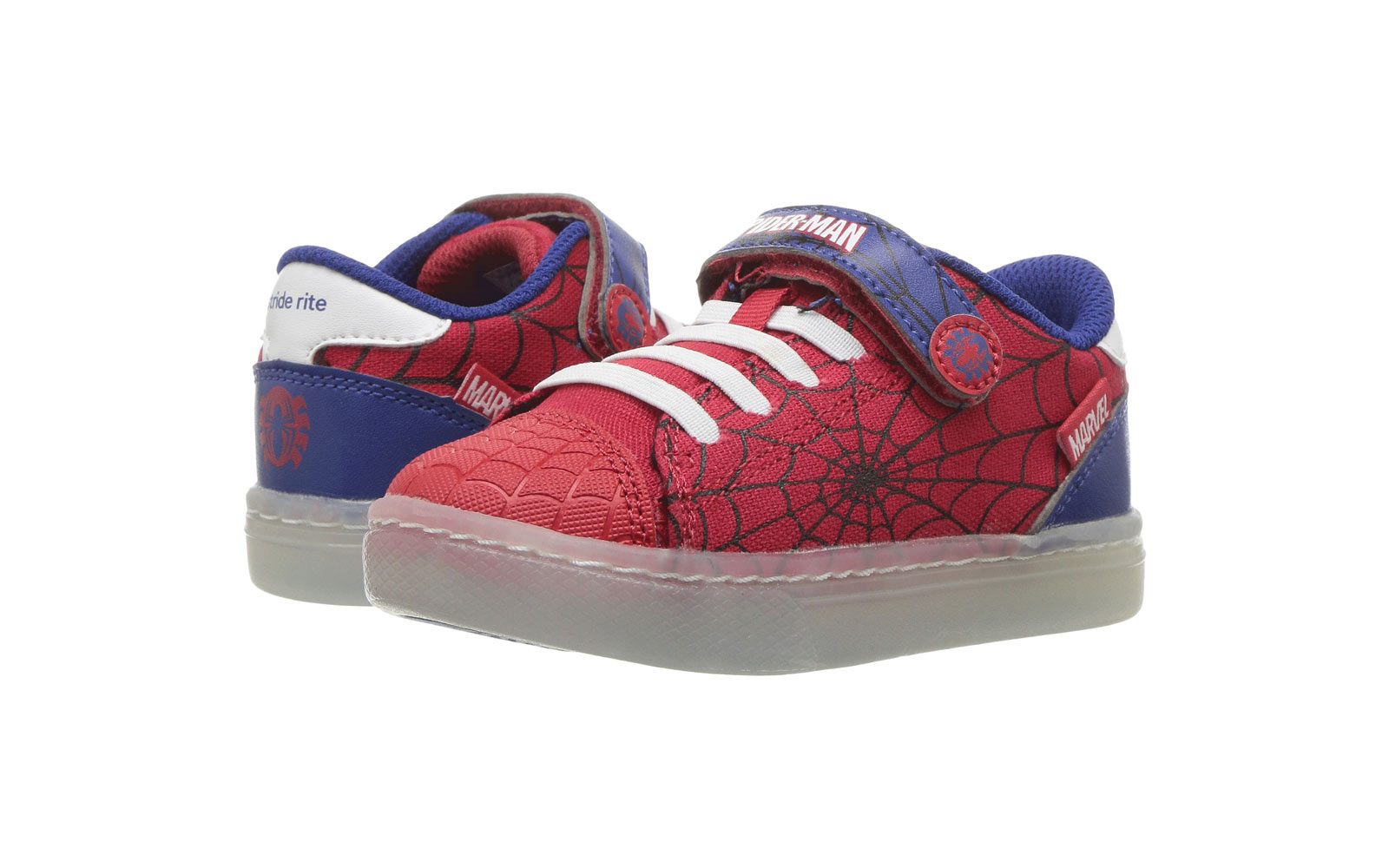 Stride Rite spiderman shoe