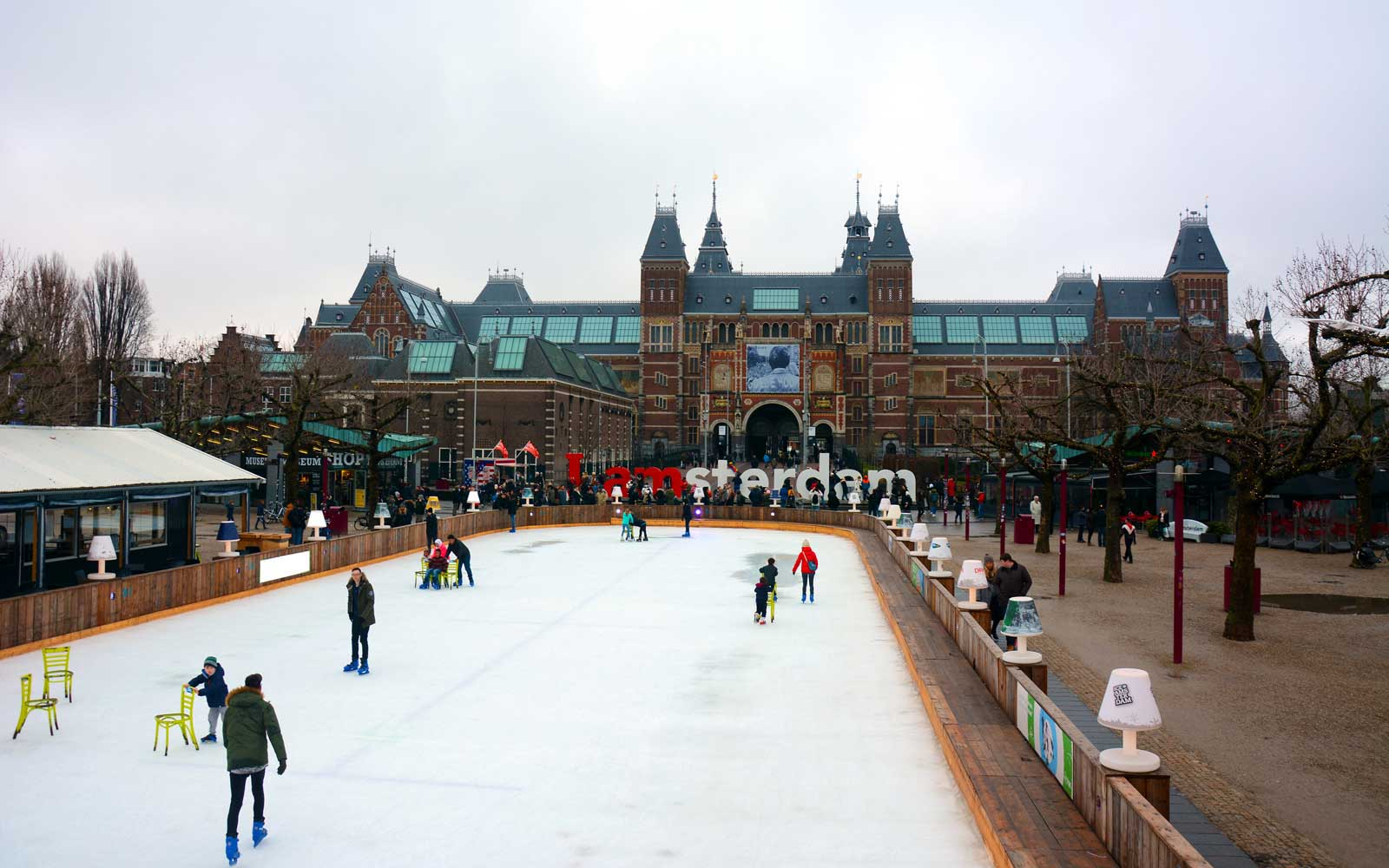 Ice Skating in Amsterdam, Netherlands