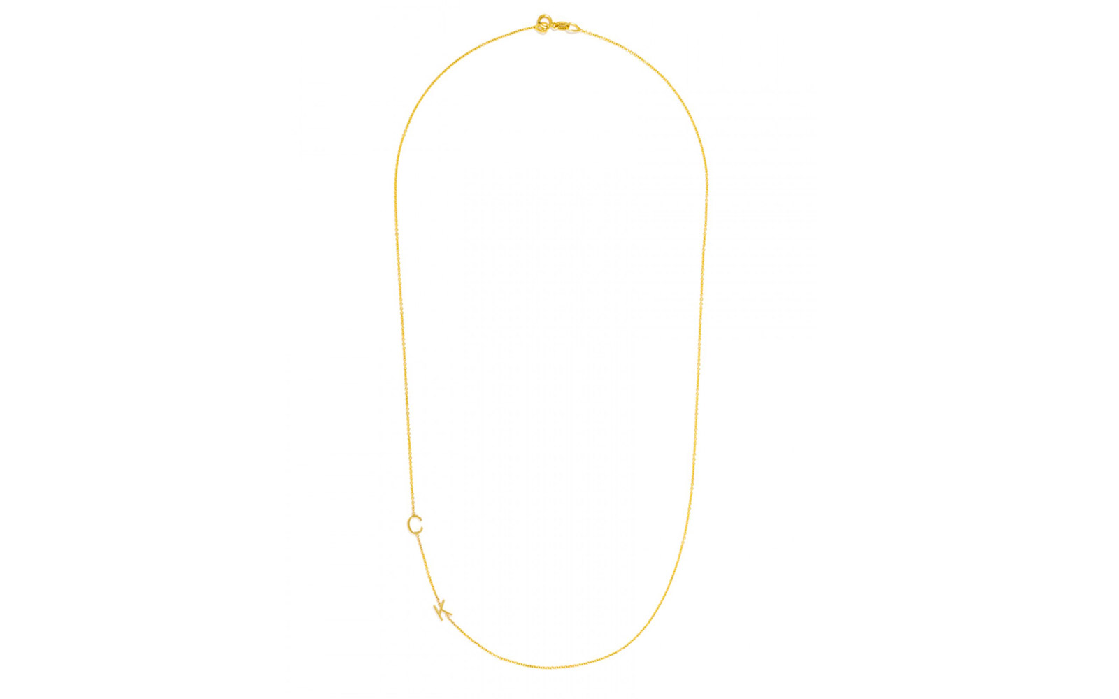 MAYA BRENNER INITIAL NECKLACE