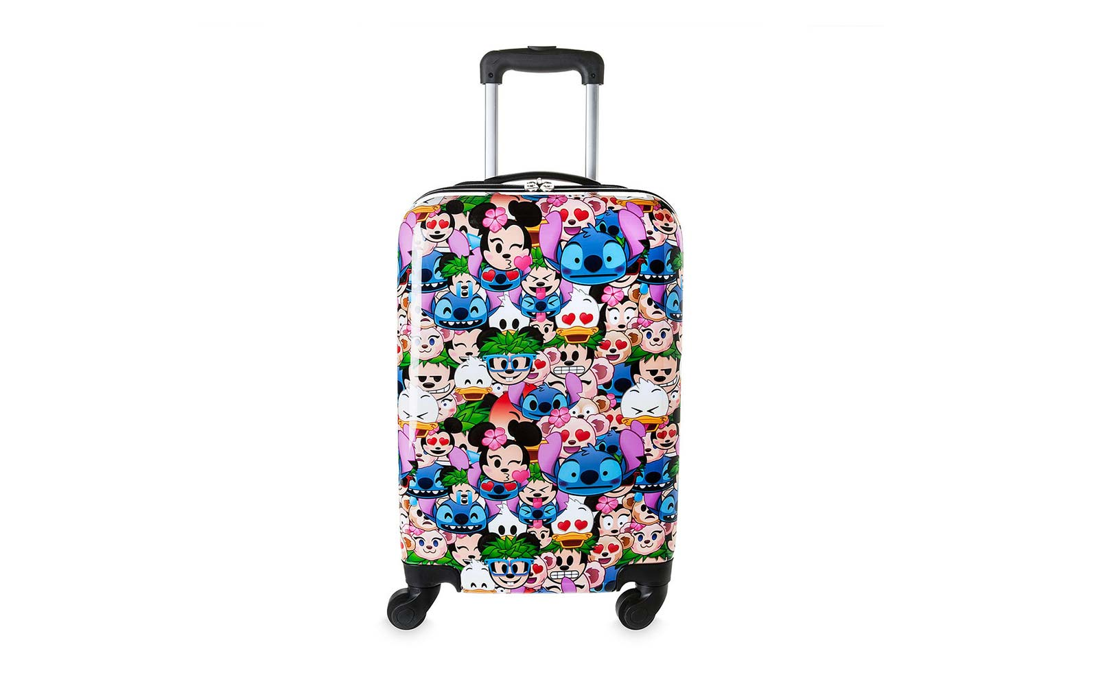 disney emoji character faces rolling luggage suitcase