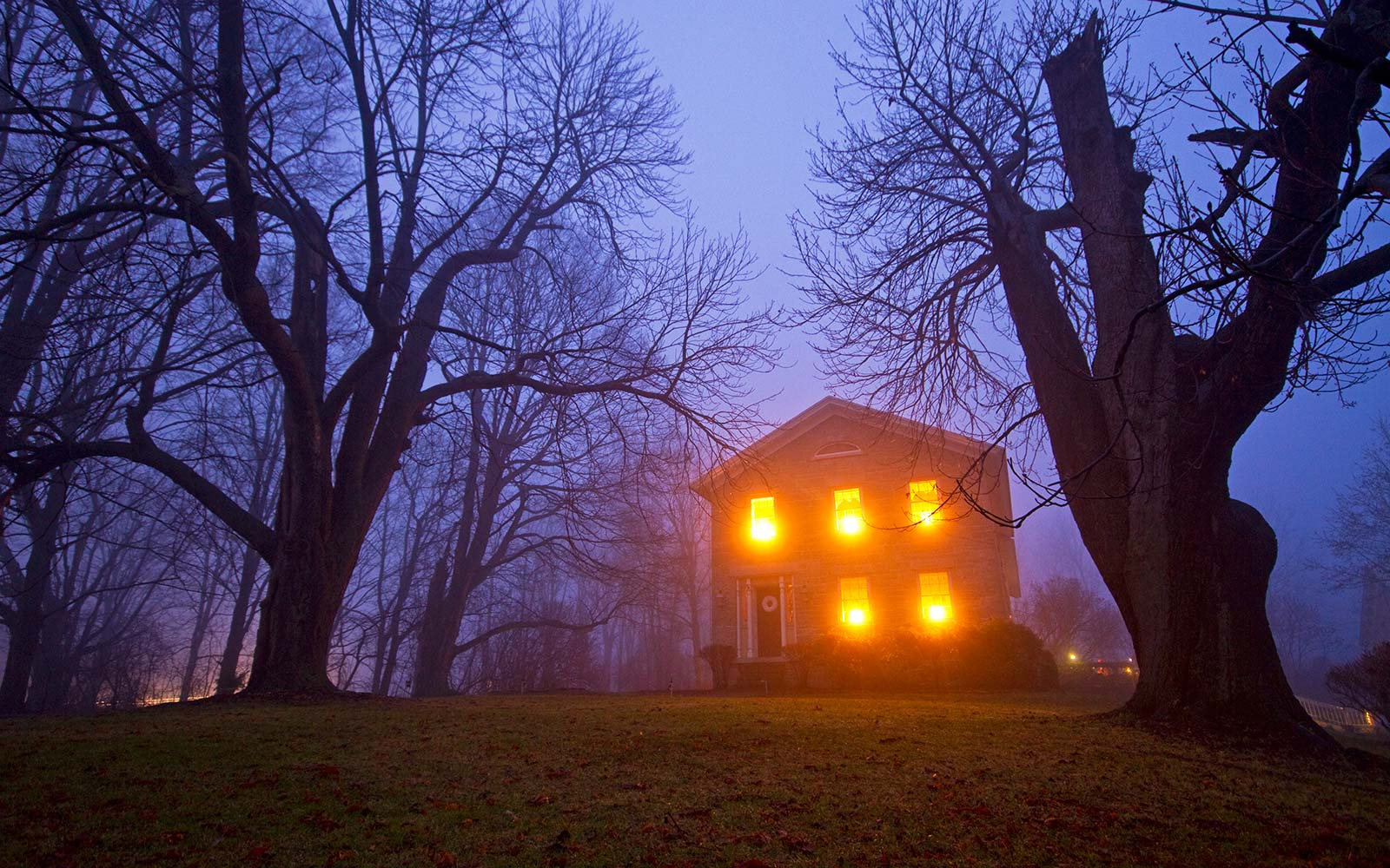haunted house paranormal activity belief halloween foggy forest
