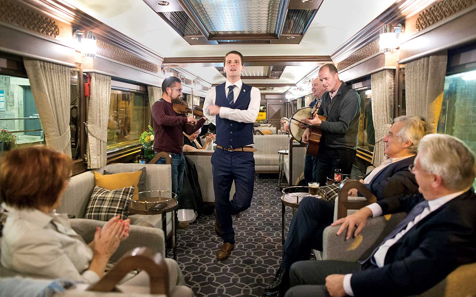 An Irish jig on board the Belmond Grand Hibernian Train