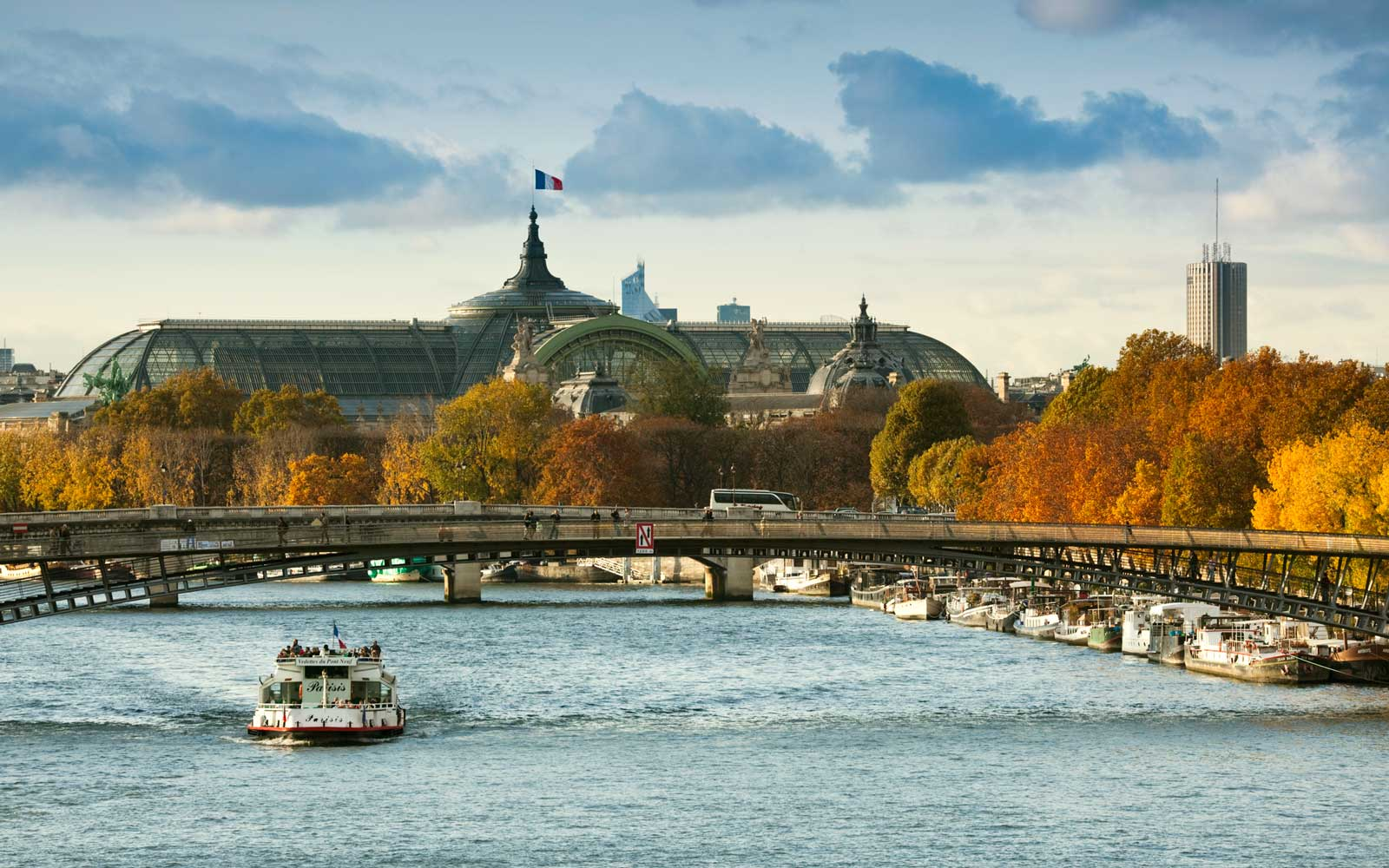 France, Paris, Grand Palais and Seine River