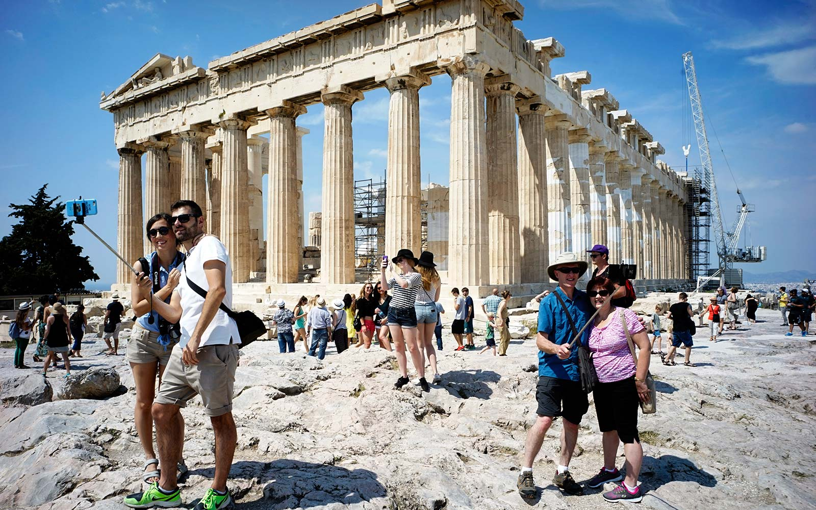 Ancient Greece Parthenon Athens Tourist Selfie