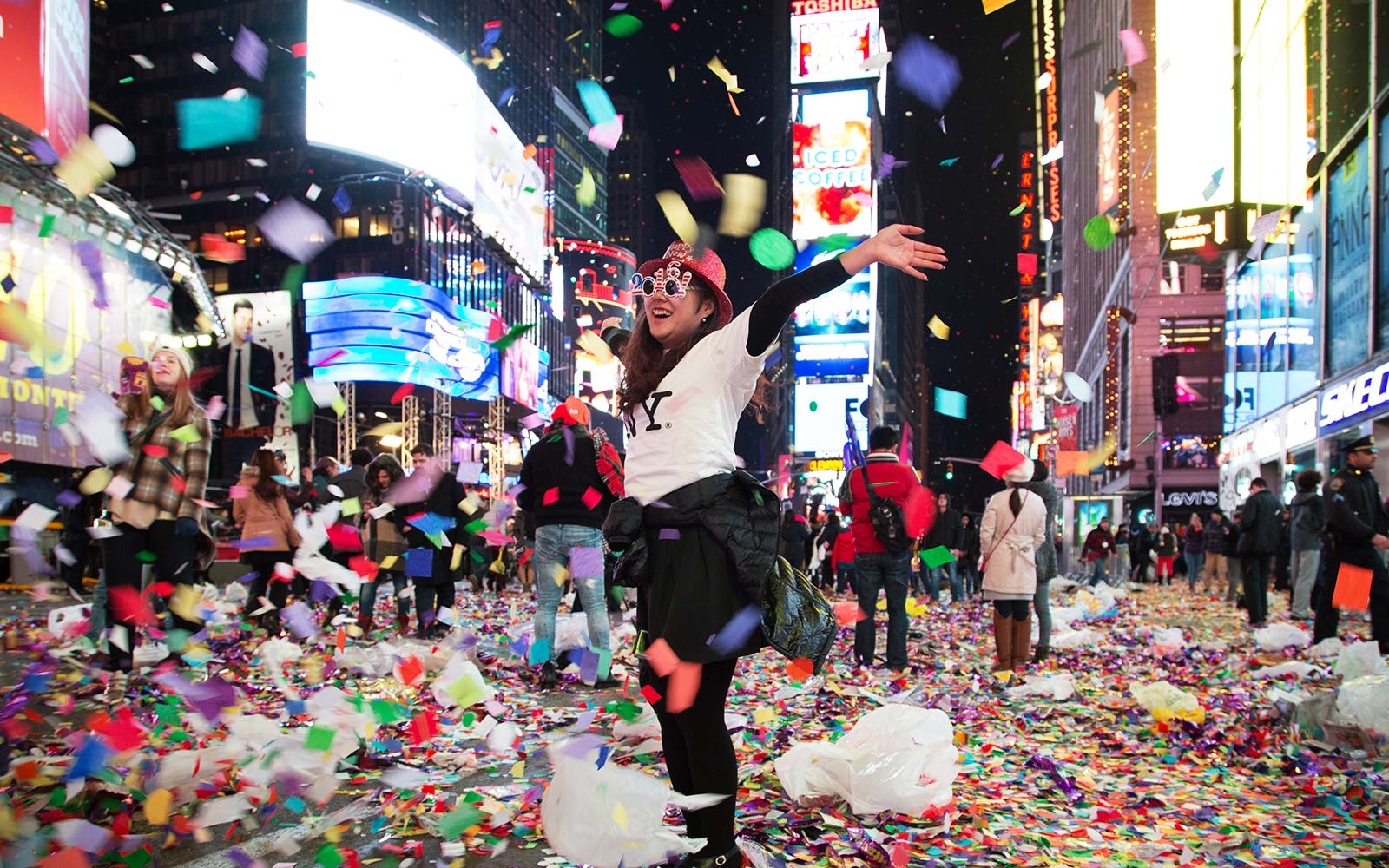 times square new york city new years eve celebration