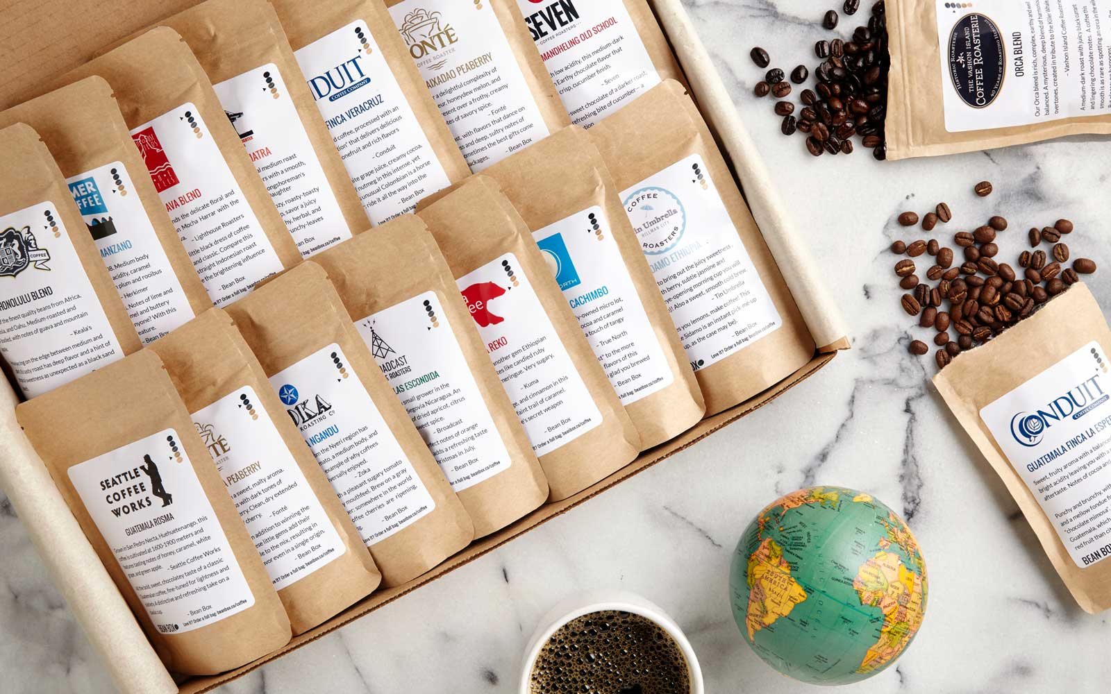 Bean Box World Coffee Tour Gourmet Sampler