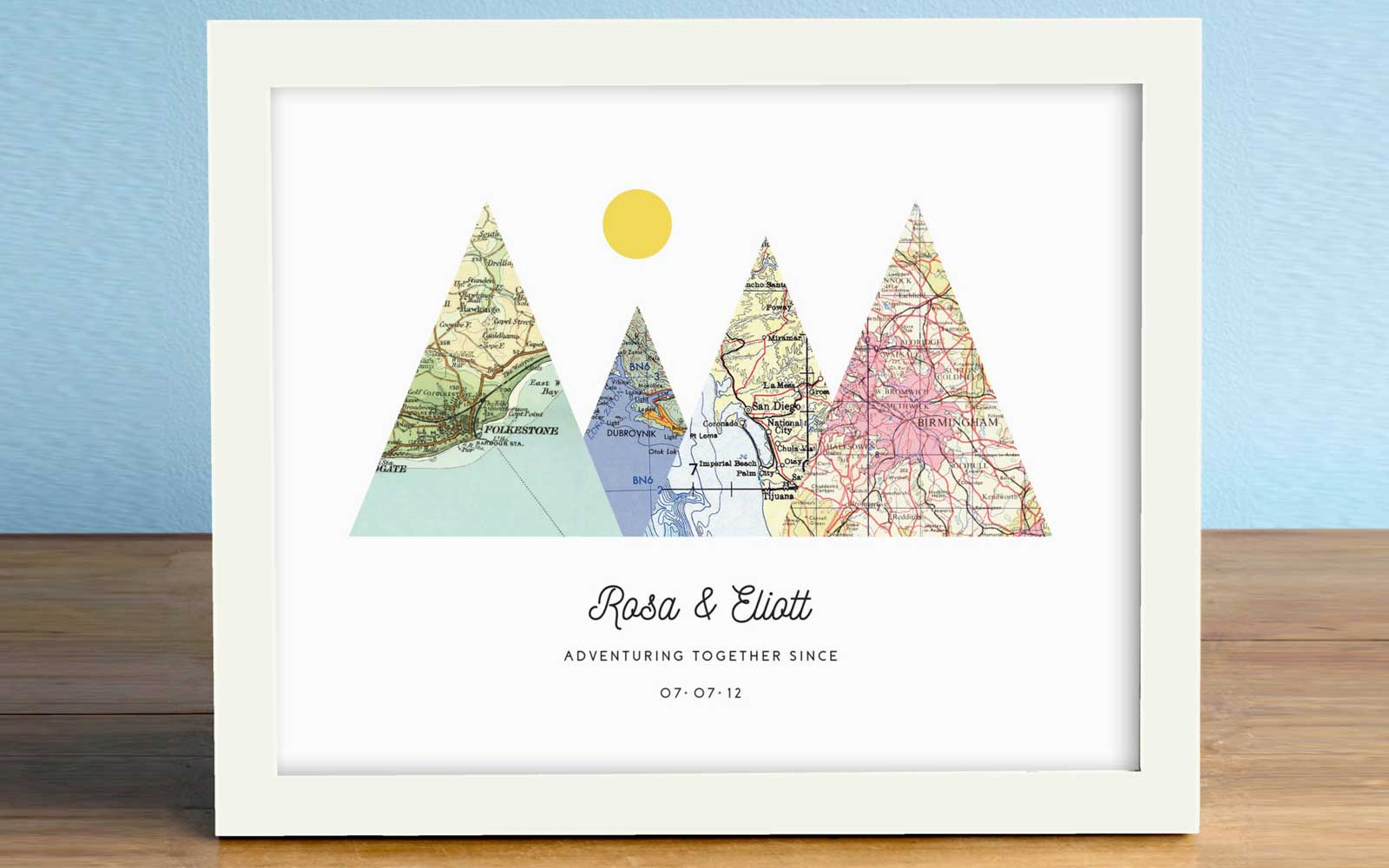 Adventure Together Map Print