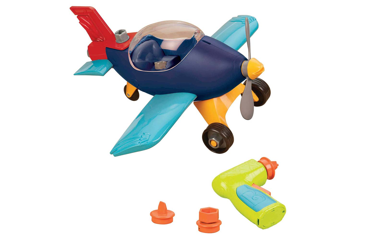 build a ma jigs airplane toy