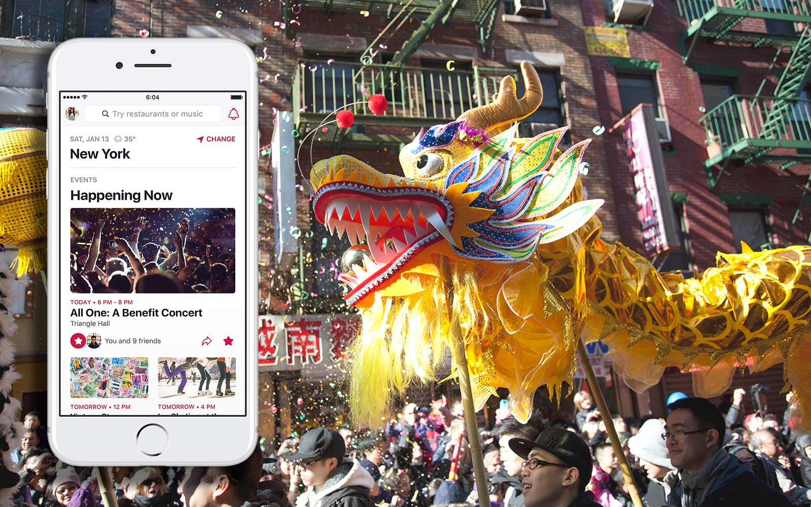 Facebook Local app New York City Chinese New Year Festival