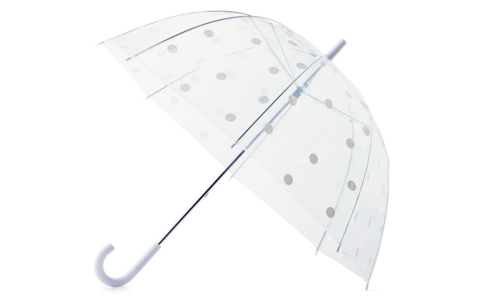 Kate Spade White Dot Clear Umbrella