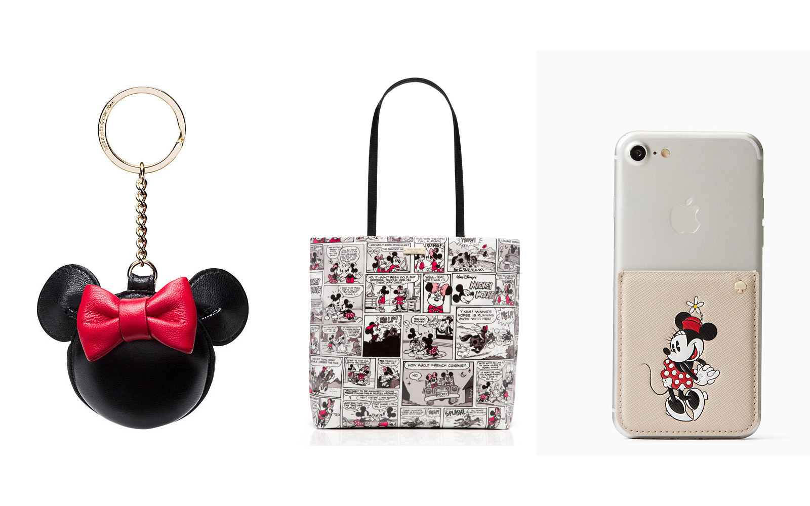Collection of Kate Spade's new Minnie Mouse collection