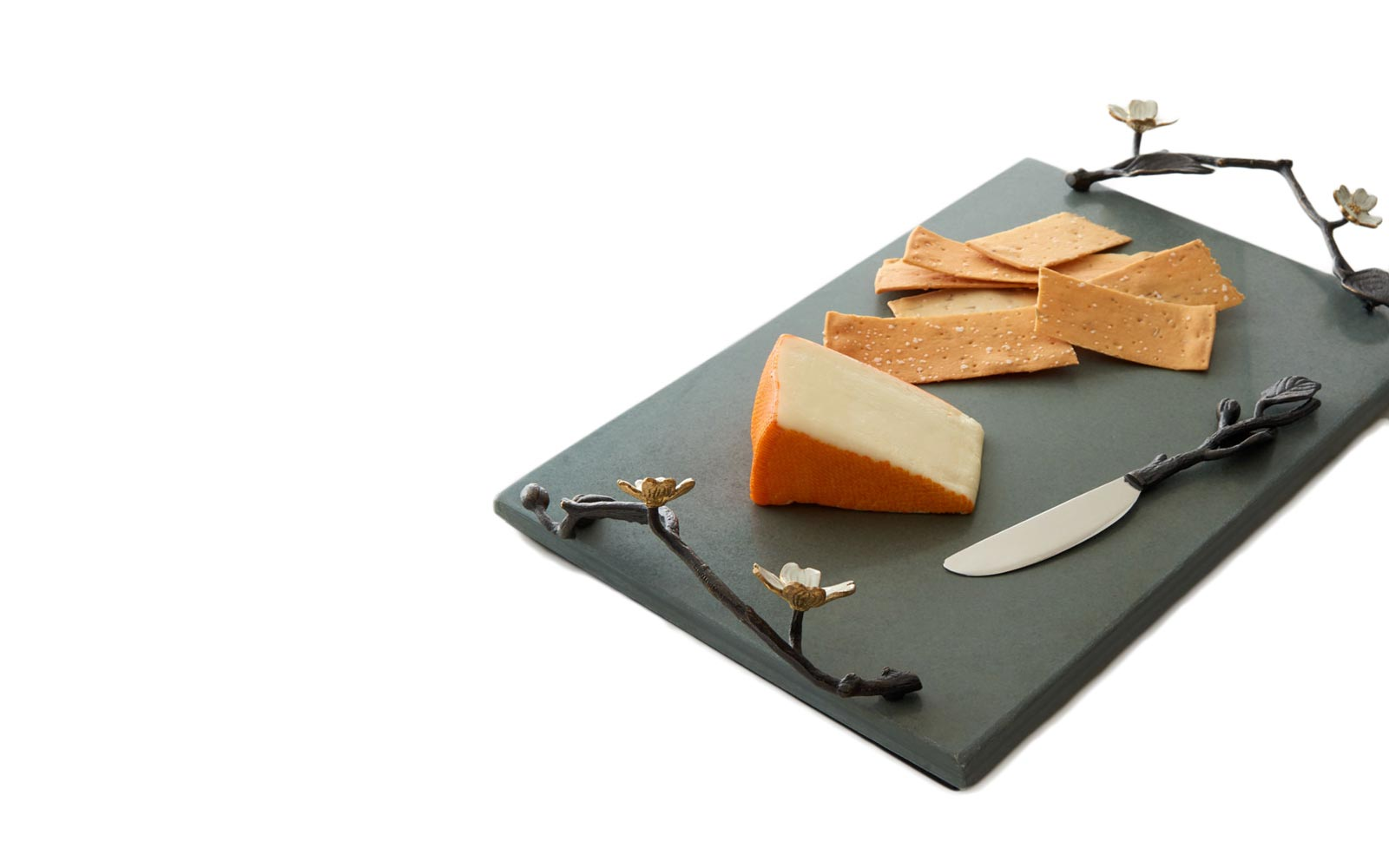 Michael Aram Dogwood Cheeseboard with Knife