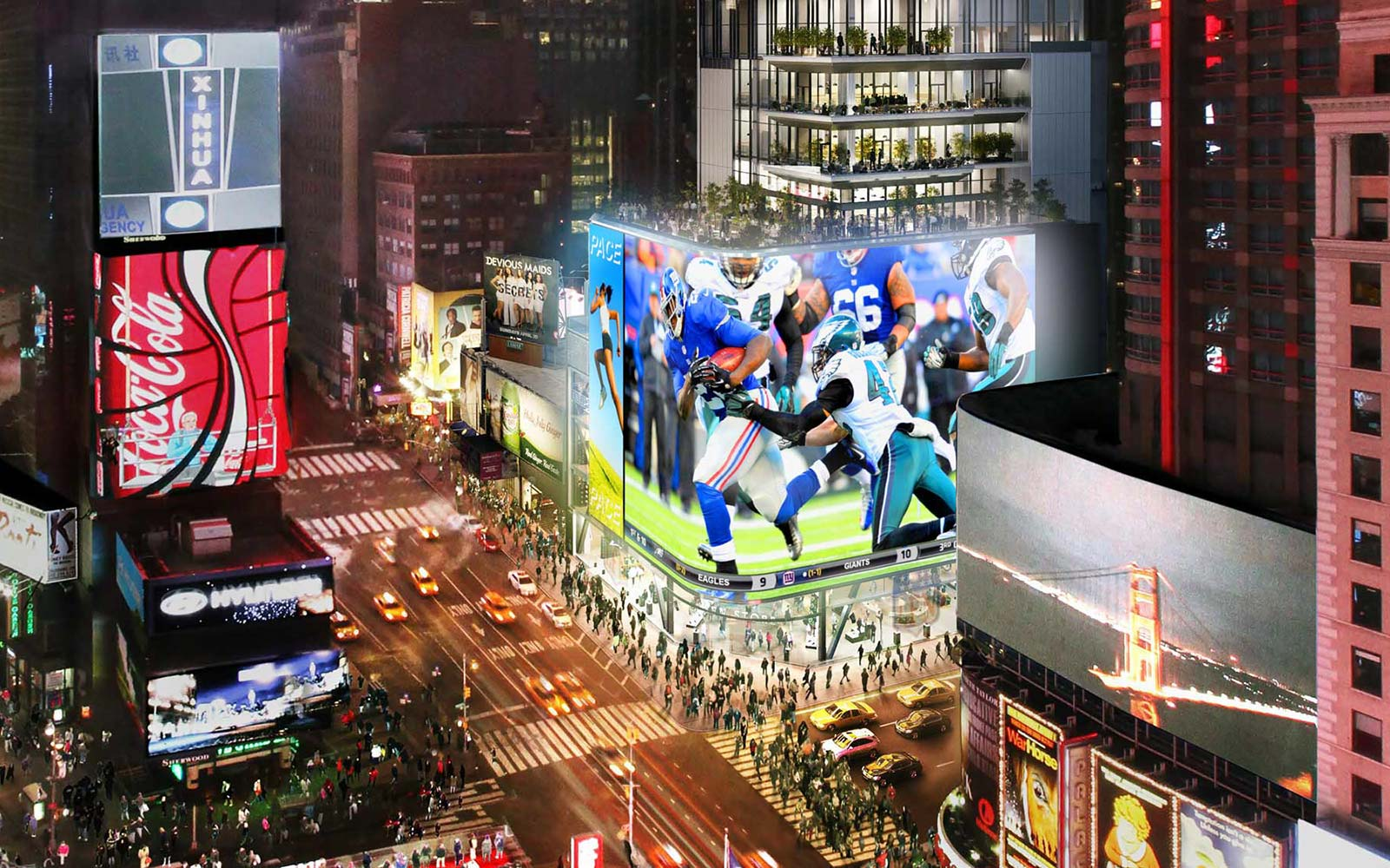 20 Times Square Edition Hotel New York City LED Billboard Advertising