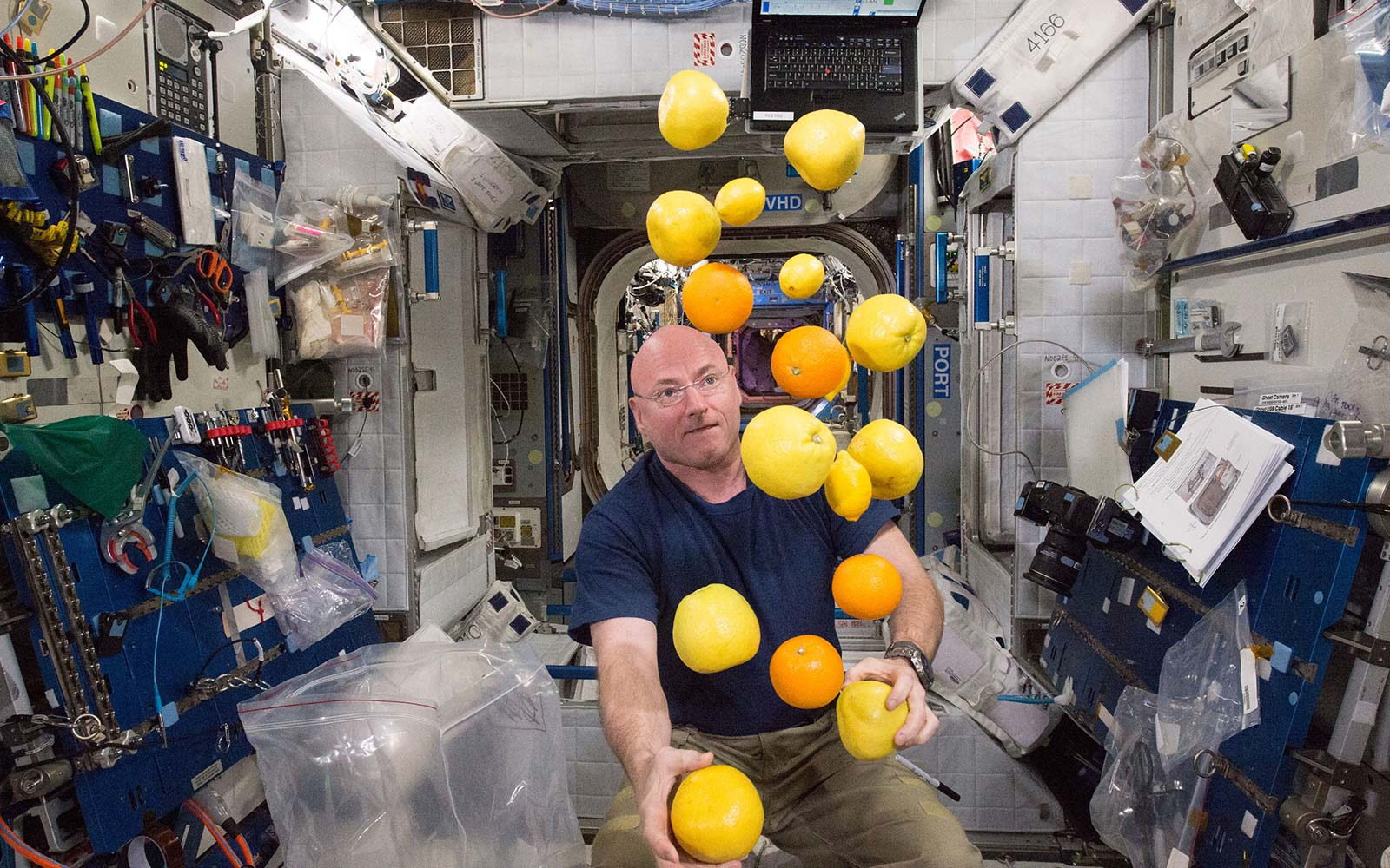 Scott Kelly NASA astronaut food groceries