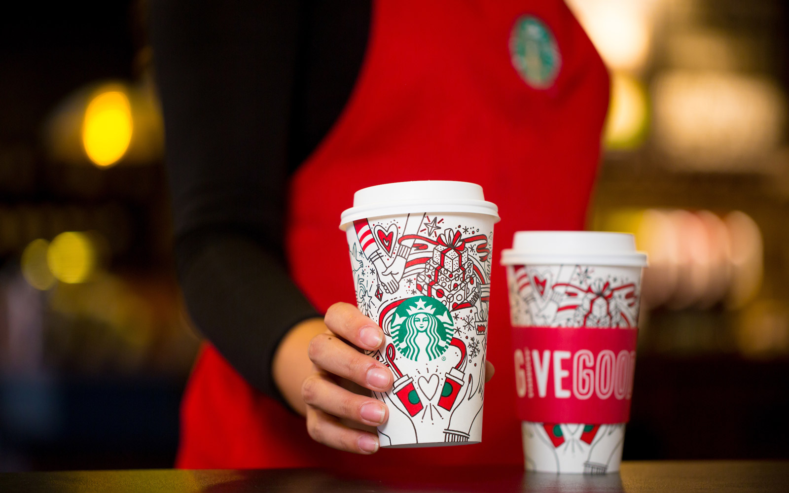 Starbucks' new holiday cups