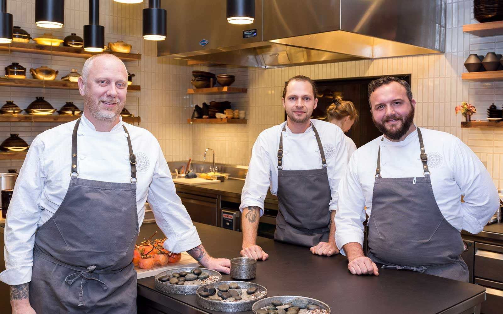 Chefs at Single Thread: Kyle Connaughton, Aaron Koseba, Joshua Lanning