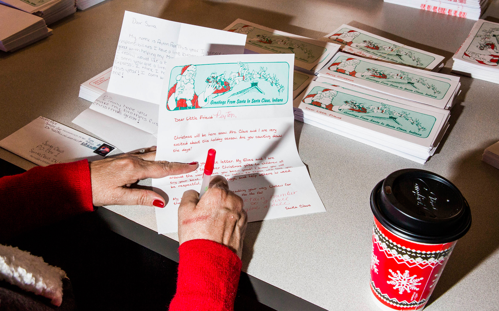 Volunteer Elf responds to Santa's letters
