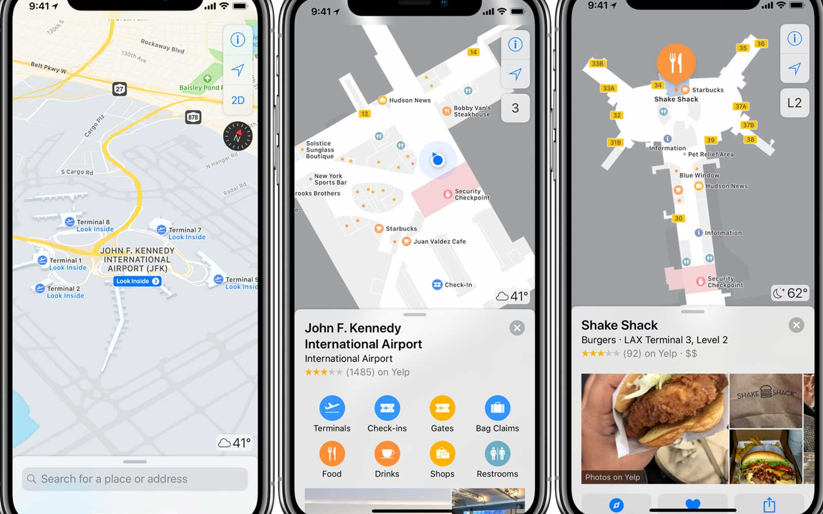 Apple Maps updates for airports