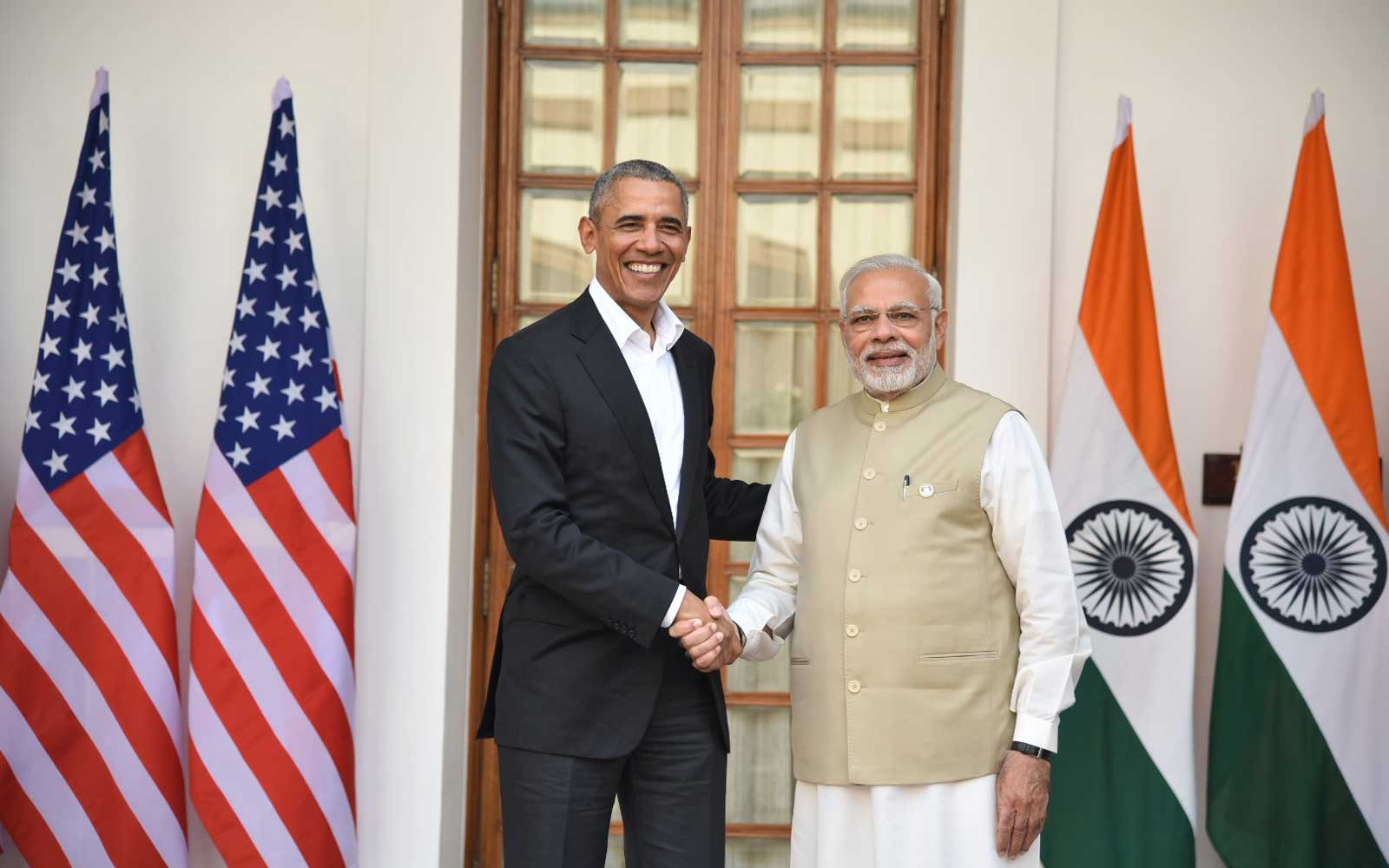 Barack Obama meets Prime Minister Narendra Modi in India