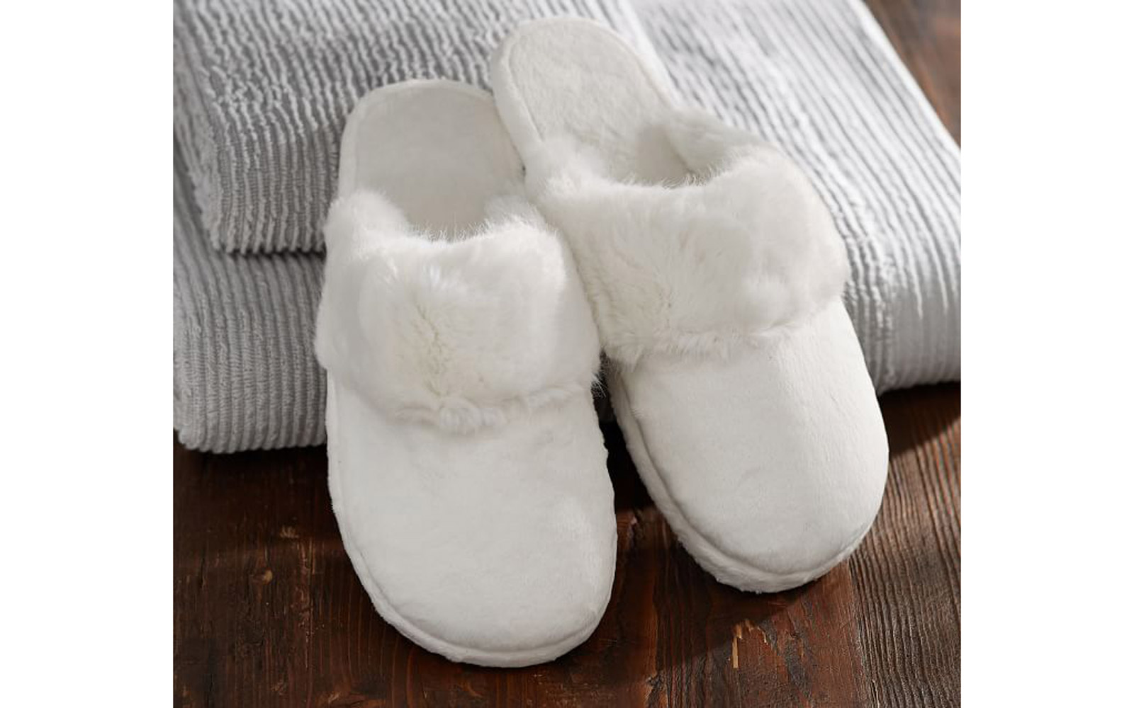 Faux Fur Booties Slippers