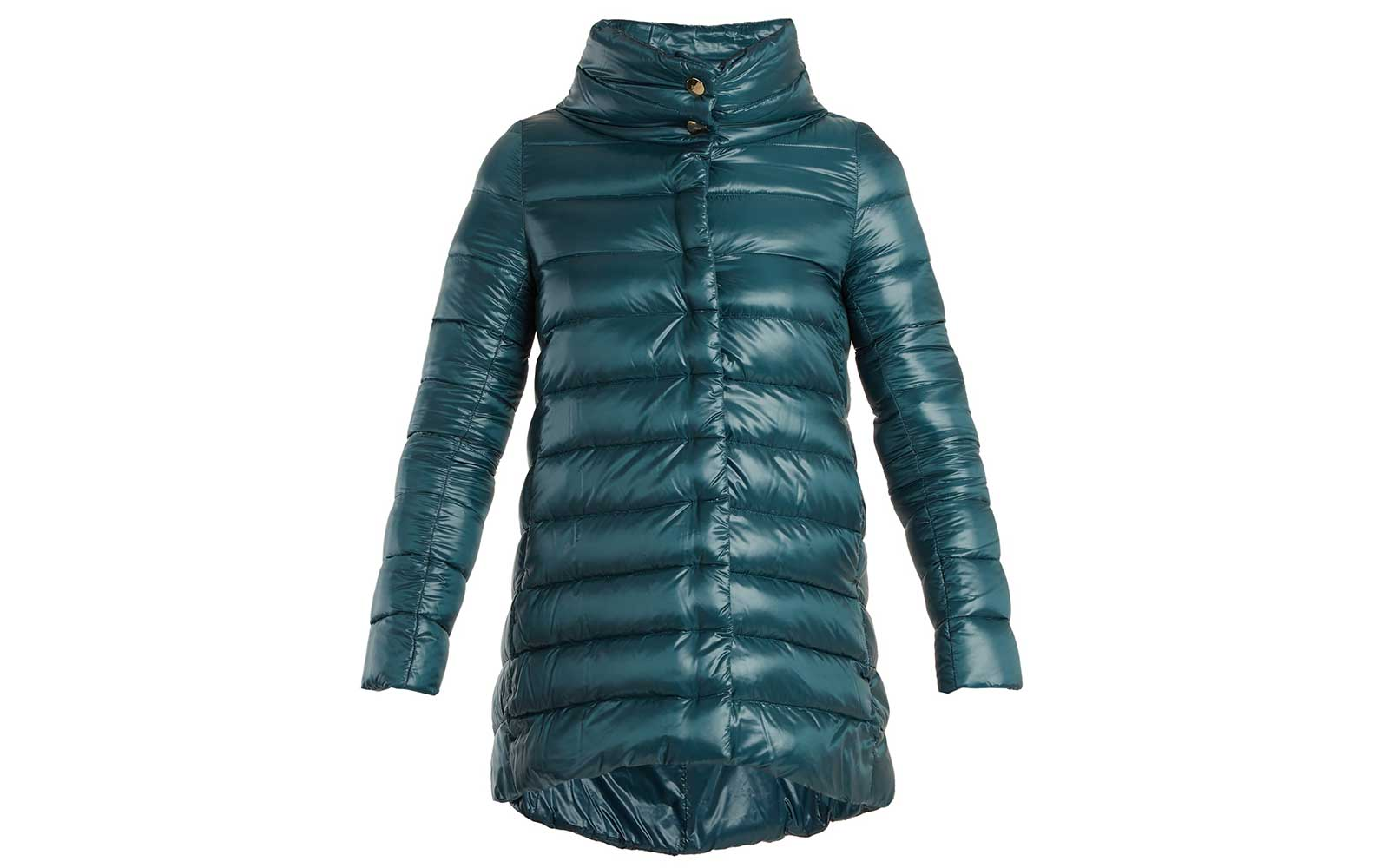 Jewel toned puffer coat
