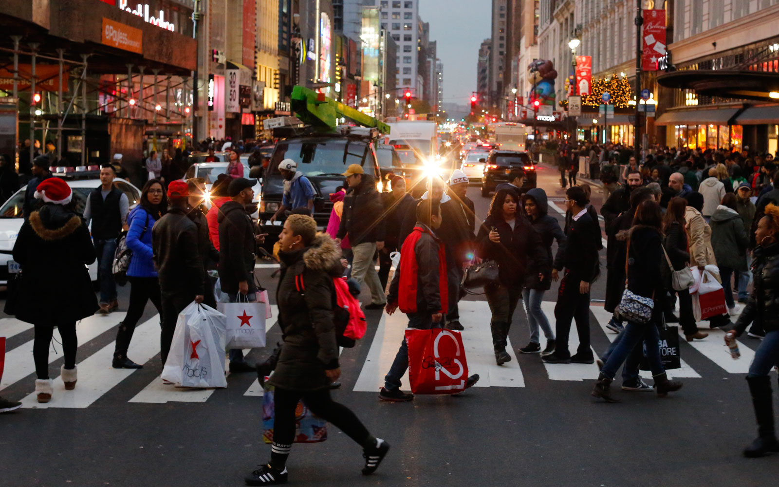 holiday shoppers