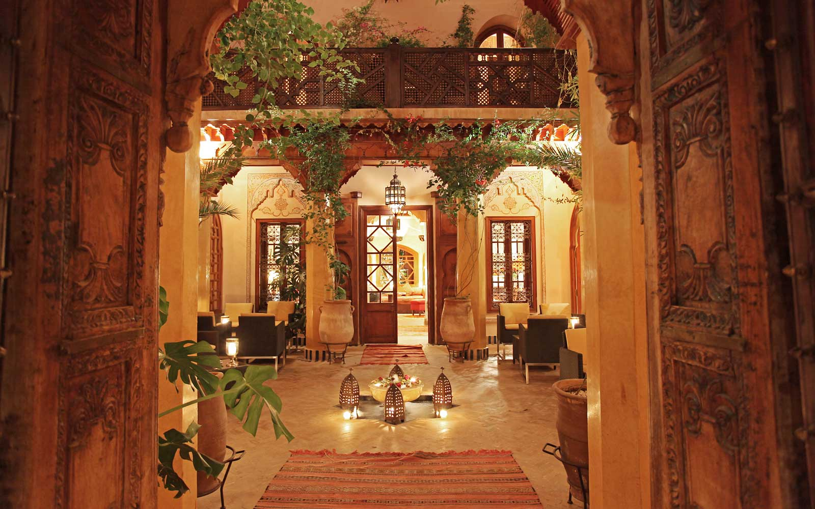 Entrance to La Maison Arabe, in Marrakech, Morocco
